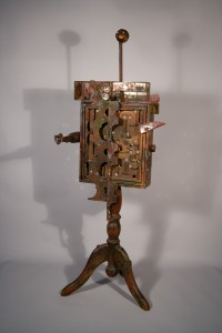 maze toy figure, recycled sculpture